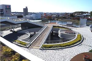 都市部における緑化のイメージ画像