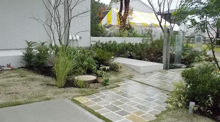 施工実績:トヨタホーム展示場アトリスパーク刈谷「シンセ・フィーラス」外構